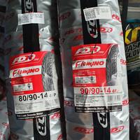 SEPASANG BAN MOTOR MATIC FDR TUBLESS 80/90-14 & 90/90-14 FLEMINO