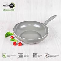 GreenPan - Delight Grey Open Wok 28 cm