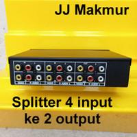 Splitter RCA Audio Video 4 input cabang 2 output Load Port AV selektor