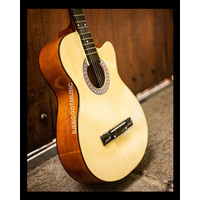 [Paket Lengkap] Gitar Akustik Natural Mandalika S-01 Murah Fullset