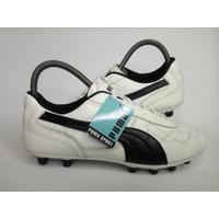 Sepatu Bola Kulit Puma King-Putih hitam