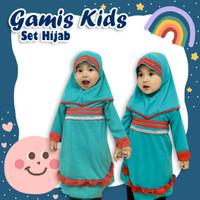 Baju Gamis Bayi Perempuan Set Hijab | Gamis Balita Perempuan
