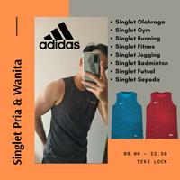 Baju Singlet Gym Baju Olahraga Pria Kaos Running/Training/Joging
