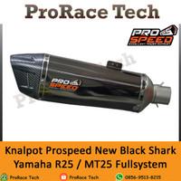 Knalpot Prospeed New Black Shark Yamaha R25 / MT 25 Fullsystem
