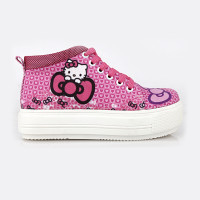 sepatu sneakers hello kitty semi boot pink cj3 pesta gaya anak cewek