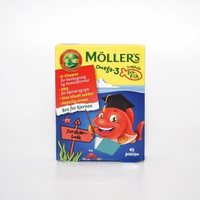 Mollers Tran Omega-3 Gummy Fish - Strawberry (Box)