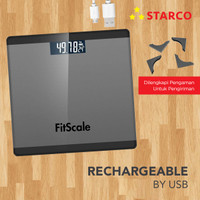 Starco Timbangan Badan Digital Body Weight Scale