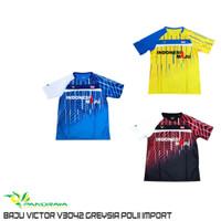 Baju Badminton Bulutangkis Import Victor V 3042 Sablon Indonesia Maju
