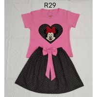 Chang Fashion Setelan Rok Untuk Anak Perempuan Usia 3-9 Tahun - Pink, 7-9 tahun