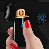Korek Api Elektrik Fingerprint Touch Sensor Led USB Charging