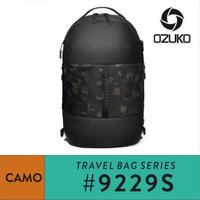 Tas Travel Backpack Pria Ozuko 9229S Waterproof Travel Bag Ransel Laki