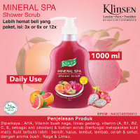 KLINSEN SHOWER SCRUB - MINERAL SPA 1000ml - Sabun Mandi Cair