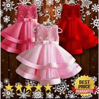 Dress anak perempuan murah import usia umur 3 4 5 tahun baju pesta ana