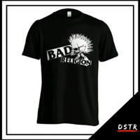 Kaos Baju Distro Musik Band Punk Punkrock Bad Religion C23 Size XS-6XL - Hitam, XS