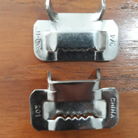 L Ear-Lokt Buckles Band-It 201 Stainless Steel 5/8 Inch 15mm 100pc/Box
