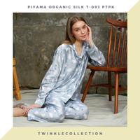 Baju Tidur Piyama Wanita GREET Lengan Panjang Organic Silk T-095 PTPK