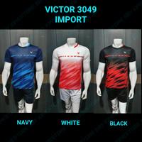 Baju badminton import 3049 victor jersey grade ori terbaru