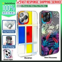Case iPhone 12 Pro Max 12 Mini SwitchEasy Artist Motif Casing - 12/12 Pro, Aurora