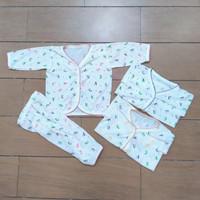 Setelan Baju Harian Bayi Laki Laki Cowok FullPrint Newborn ( 0-3 Bln )