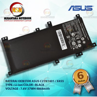 Baterai OEM Asus C21N1401 / X455 X455L X455LA X455LD A455L 7.6V 37WH