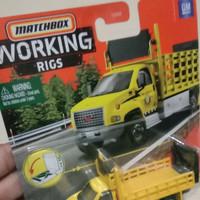 matchbox working rigs gmc 3500 attenuator truck