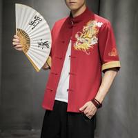 man.c.033 baju cheongsam pria naga adat tradisional china modern