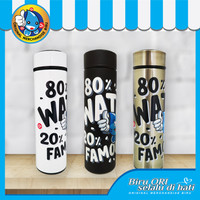 Tumbler Botol Minum Hot Cool Stainless 500ml / Water Famous / Biru Ori