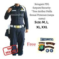 BAJU SERAGAM PDL SECURITY free ATRIBUT POLDA SESUAI ALAMAT (NONAME)