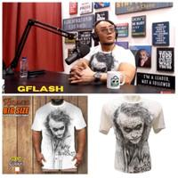 Kaos Tshirt Joker Why So Serious Putih Baju Big Size Rhymes M-XXXL