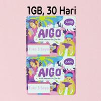 Voucher Kuota Data Axis Aigo 1GB, 30 Hari