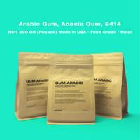ARABIC GUM GOM ARAB ACACIA GUM E414 (POWDER) REPACK 200GR - HALAL