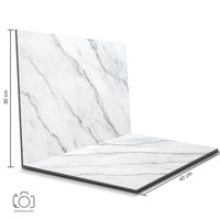 Alas Foto Lipat Marmer Putih 42x30 cm / Background Foto Marble (ML-20)