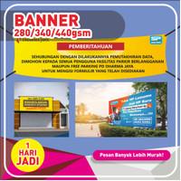 Cetak Spanduk/Banner/Baliho murah Bahan flexy 280 Hires