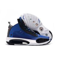 Sepatu Basket Nike Air Jordan 34 Black Royal Blue / Jordan XXXIV EP
