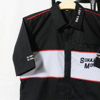 Kemeja seragam kerja/baju PDH CUSTOM Bordir - Lengan Pendek