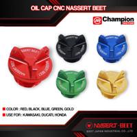 Oil Cap Cup Tutup Baut Oli Model Lightech Ninja 250 Fi 2018 ZX25R CBR - Merah