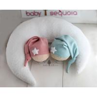 Newborn Photo Props - BABY SEQUOIA - Moon Pillow