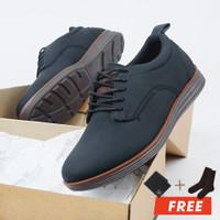 MOOFEAT RUNAL - SEPATU PRIA CASUAL PENDEK FORMAL BOOT ORIGINAL BLACK