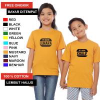 Baju Kaos Anak Sablon Nama / Kaos Anak Gratis Nama Sendiri Kaos Nama