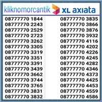 Nomor cantik XL 4G seri 7777