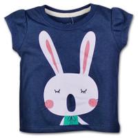 Bearhug Atasan Anak Bayi Perempuan XND6 Pendek Navy Bunny 6-18M