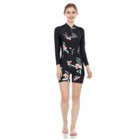 Baju renang wanita diving dewasa cewe motif corak - BUNGA BESAR, XL