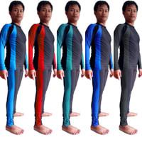 Baju Renang Selam Panjang Setelan Pria & Wanita |Diving Setelan Unisex - Biru Muda, M