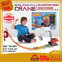 Hot Wheels Crane Crasher Track Playset Mainan Anak Lintasan HotWheels