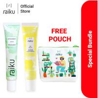 Raiku Paket Antioxidant Serum & Eye Serum (Free Pouch)
