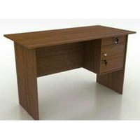 meja kerja kantor ketik tulis kayu 1/2 biro panjang 120 cm bandung