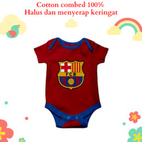 Baju jumper bayi karakter unik lucu motif logo klub bola fc barcelona
