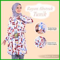 Baju Tunik Wanita Lengan Panjang Bahan Katun Rayon ORI Motif Premium