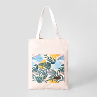 Pamole - Tote Bag Bahan Kanvas Penutup Resleting - Teka Tropical