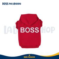 Baju Hewan Peliharaan BOSS Pet Sweater ukuran L - Merah
